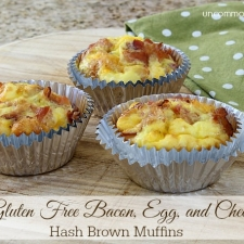 Easter Brunch Gluten Free Bacon, Egg, and Cheese Hash Brown Muffins