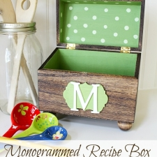 Monogrammed Recipe Box