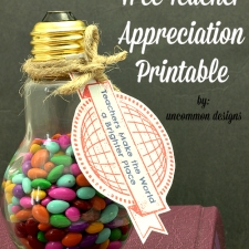 Teacher Appreciation Printable and Gift Idea