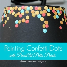 Painting Confetti Dot Pots