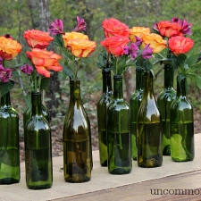 Easy and Elegant Wine Bottle Centerpiece