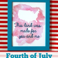 Fourth of July Watercolor Printable