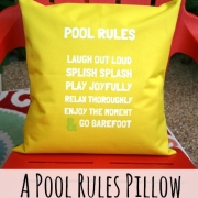 Pool Rules Pillow
