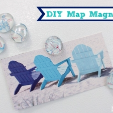 DIY Map Magnets