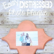 Easy Distressed Photo Plaque