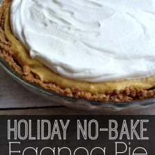Holiday No-Bake Eggnog Pie