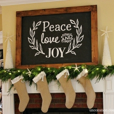 Faux Christmas Chalkboard Wall Art