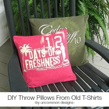 DIY Throw Pillows From Old T-Shirts