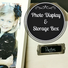 Vintage Inspired Photo Display & Storage Box