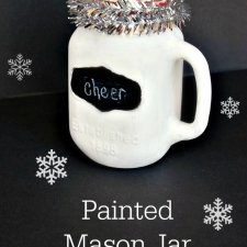 Painted Mason Jar Mug