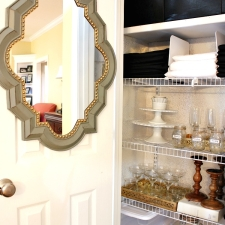 An Organized Entertaining Closet