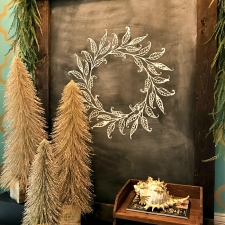 Christmas Chalkboard Art Everyone Can Make!
