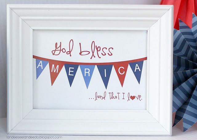 4th of July Free Printable. #freeprintable #4thofjuly