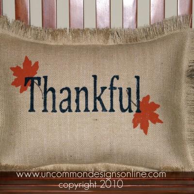 Burlap Pillows for Fall