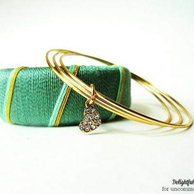 Thread Wrapped Bangle Bracelets