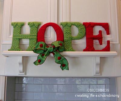 HOPE Yarn Letters