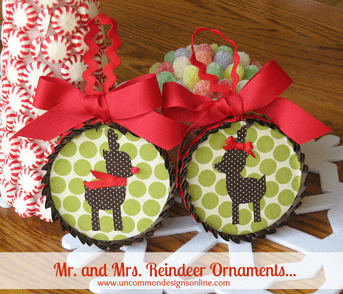 Mr. and Mrs. Reindeer Ornaments