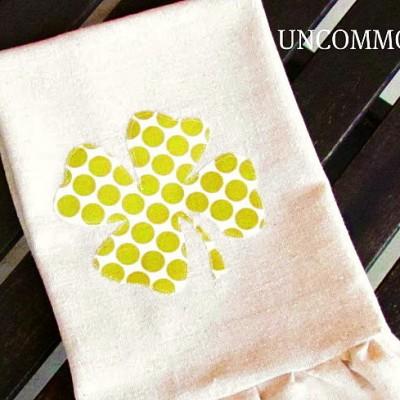 Lucky… { a Four Leaf Clover Towel for a Friend }