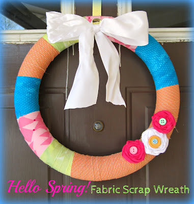 welcoming spring wreath