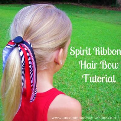 Spirit Ribbons Hair Bow Tutorial