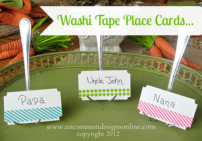 washi tape place cards