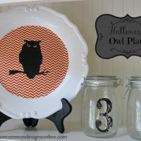 halloween owl plate
