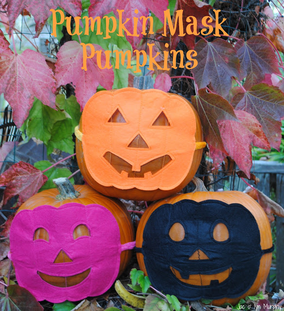 Pumpkin Mask Pumpkins
