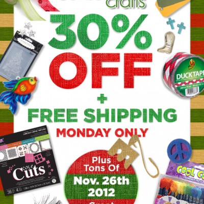 Consumer Crafts… Cyber Monday Sale!
