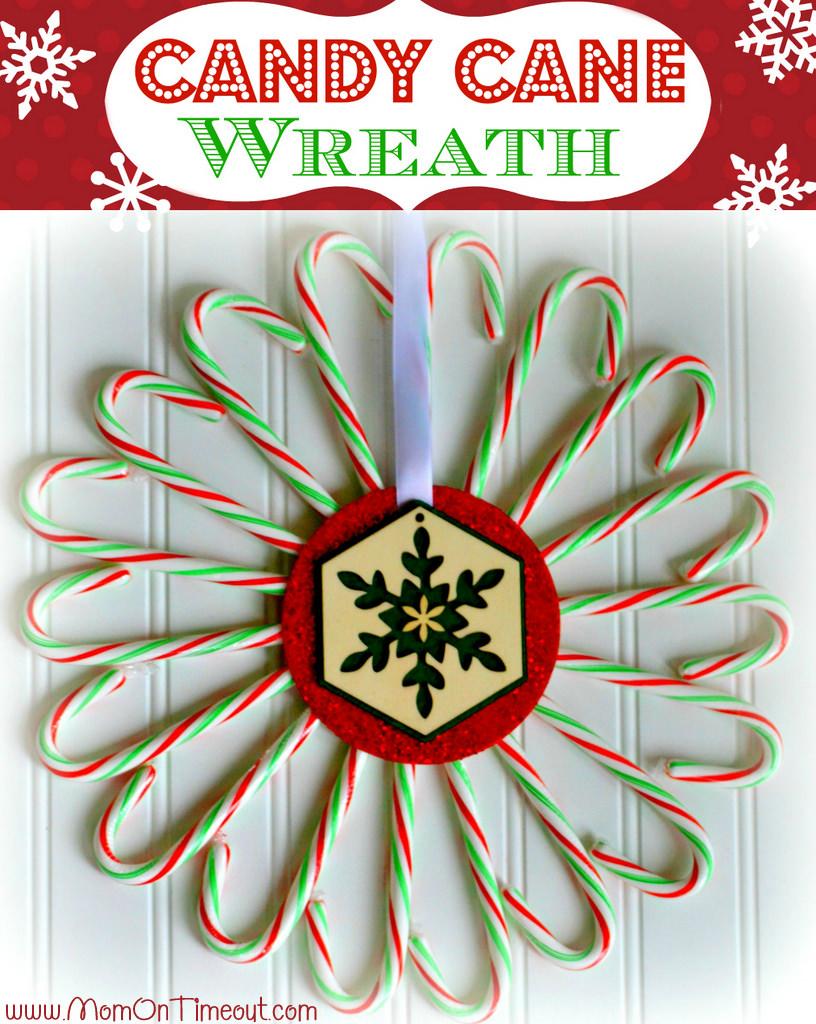Candu cane Christmas Wreath