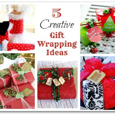 5 Gift Wrapping Ideas … { Boxwood Wrapped Gift }