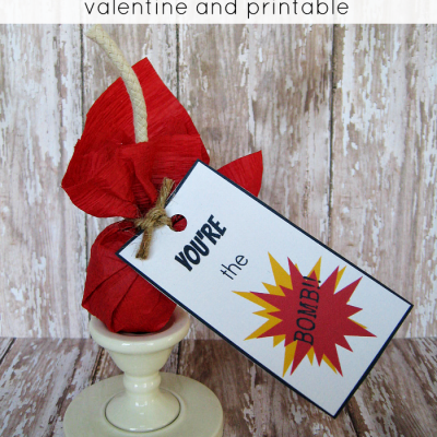 You're The Bomb Valentine and Printable