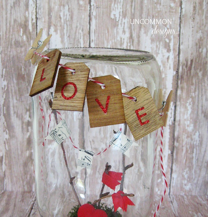 valentine mason jar craft tags