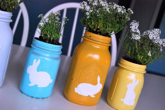 Easter Mason Jar Centerpiece