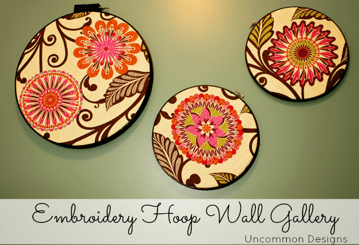 embroidery hoop wall gallery