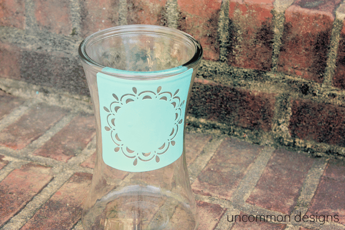 frosted vase stencil