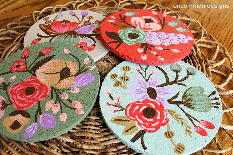 Botanical-cork-coasters