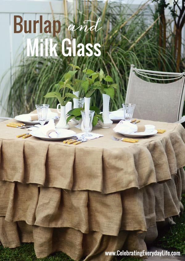 Burlap-and-Milk-Glass-Tablescape