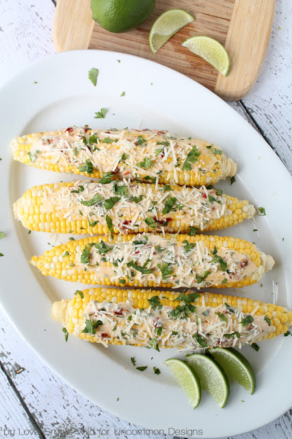 roasted chipotle lime corn on the cob