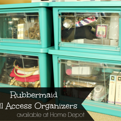 Rubbermaid All Access Organizers for my Craft Room