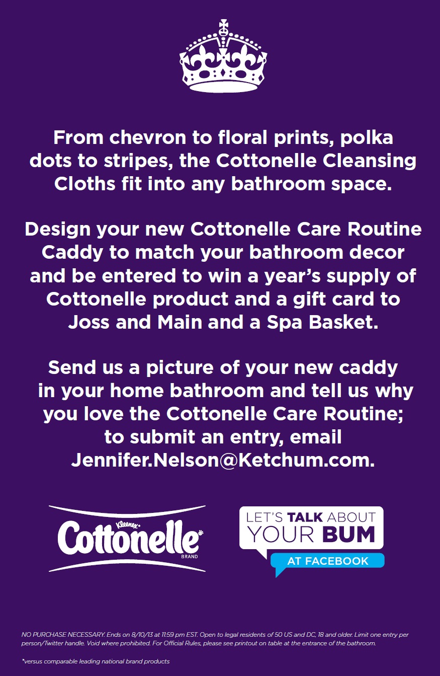 cottonelle care routine caddy contest