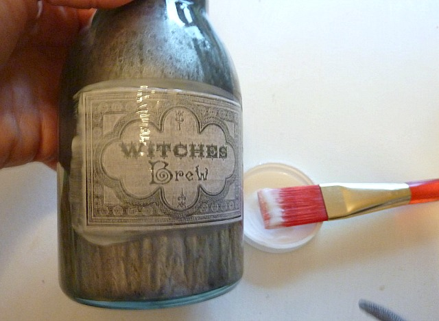 DIY_faux_mercury_glass_bottles-mod_podge