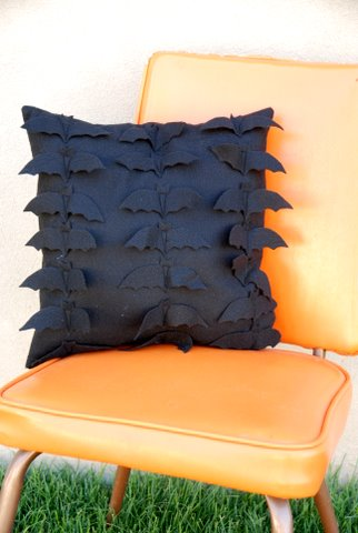 black bat pillow