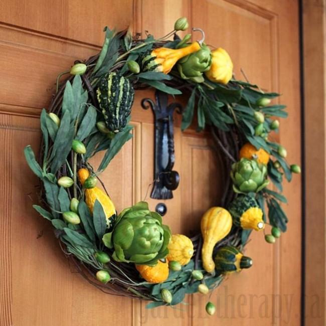 Fall Gourd Wreath