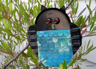 scare owl craft