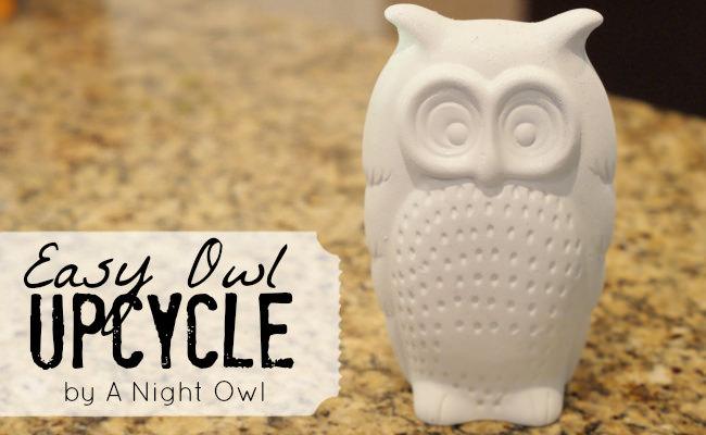 easy owl upcycle