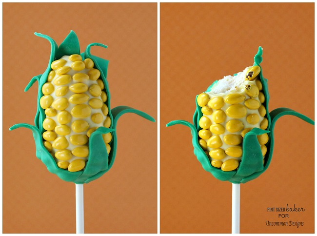 Cake Pop Candy Corn Treats ~ Perfect for a fall celebration! www.uncommondesignsonline.com #recipes
