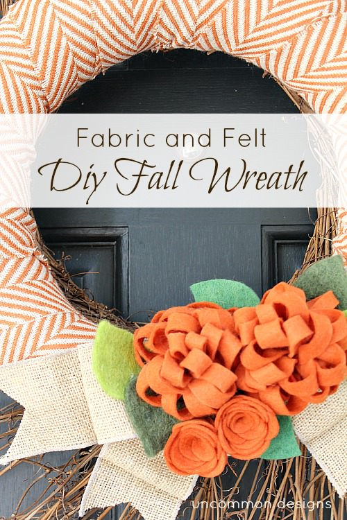 Create a beautiful fabric and felt DIY Fall Wreath for your home!