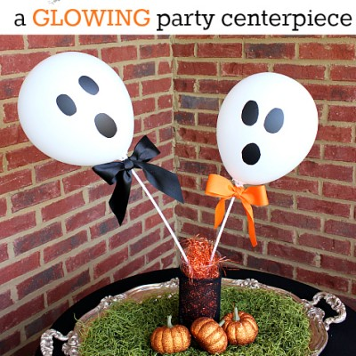 Ghost Balloon Craft… a Glowing Halloween Party Centerpiece