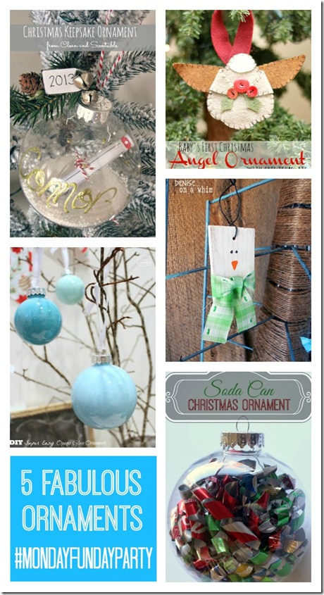5 Christmas Ornaments from Monday Funday