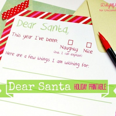 Letter to Santa Free Christmas Printable